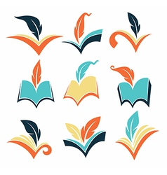 books collection vector image