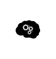 Brainstorming school brainstorm icon simple flat vector