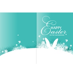 brochure rabbit ears sticking out grass vector image