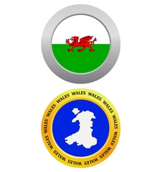 Button as a symbol map wales vector
