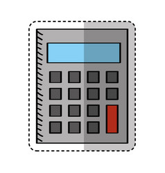 calculator math isolated icon vector image