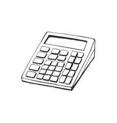 calculator sketch isolated vector image