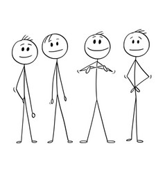 cartoon of business team and leader vector image
