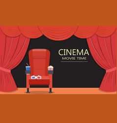 cinema seattheater seat vector image