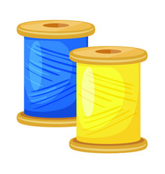 Design thread and spool icon collection vector