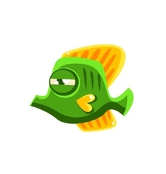 Determined green fantastic aquarium tropical vector