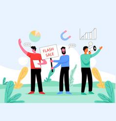 Digital product marketing concept vector