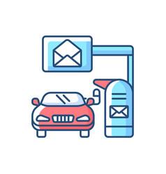 Drive through mailbox rgb color icon vector