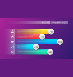 easy editable 5 options infographic design vector image