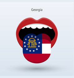 Electoral vote of georgia abstract mouth vector