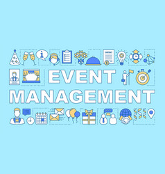Event management word concepts banner scheduling vector