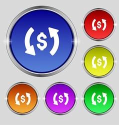 Exchange icon sign Round symbol on bright vector