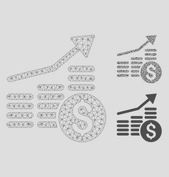 financial chart mesh 2d model and triangle vector image