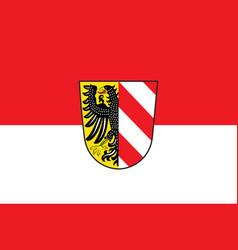 Flag of nuremberg city in bavaria germany vector