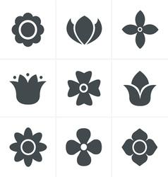 Flower Icons Set Design vector