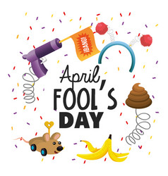 Funny things toy to fools day vector