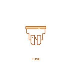 Fuse concept 2 colored icon simple line element vector