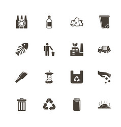 garbage - flat icons vector image