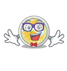 geek naengmyeon is served in cartoon bowl vector image