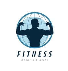 gym logo design template fitness or sport vector image