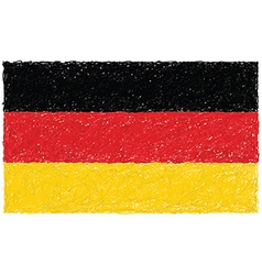 Hand drawn of flag of Germany vector