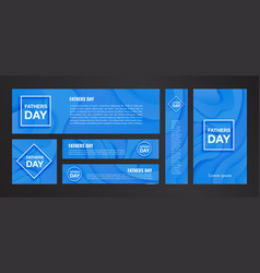 happy fathers day banner on blue background vector image