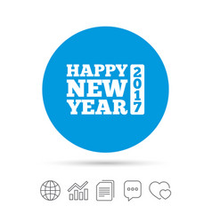 Happy new year 2017 sign icon christmas symbol vector