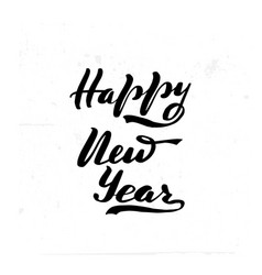 happy new year brush hand vector image
