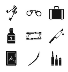 Importunity icons set simple style vector