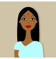 Indian woman portrait for your design vector