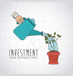 Investment ideas and profit design vector