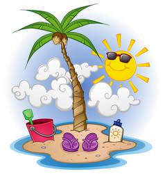 island paradise cartoon vector image