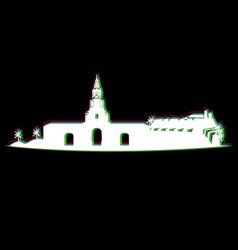Isolated cartagena cityscape vector