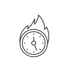 Lack of time line icon concept lack of time vector