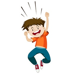 Little boy jumping up vector image