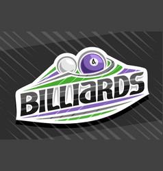 Logo for billiards sport vector