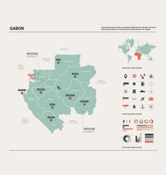Map gabon high detailed country vector