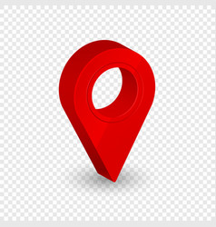 map location pointer 3d arrow navigation icon for vector image