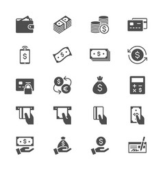 money flat icons vector image