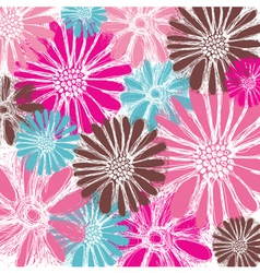 pastel floral card vector image