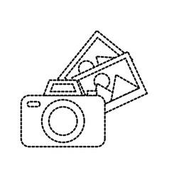 photographic camera photo gallery app vector image