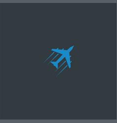 plane symbol design inspiration vector image