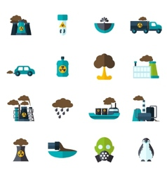 Pollution icon flat vector