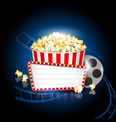 pop corn cinema movie background vector image