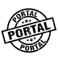 Portal round grunge black stamp vector