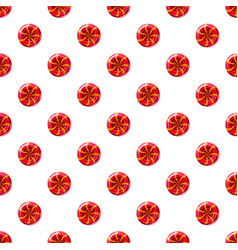 Red sweet lollipop candie pattern vector