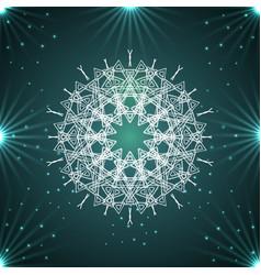 round white mandala snowflakes vector image