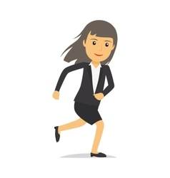 Running businesswoman character vector image