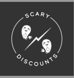 scary discounts vector image