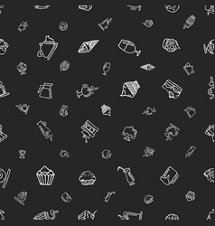 seamless pattern with hand-drawn elements on a vector image